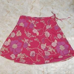 Calvin Klein Jeans pink Floral Cotton Skirt